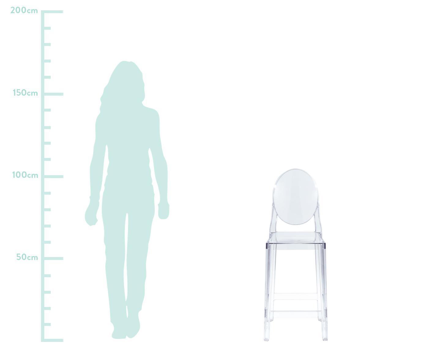 Chaises de comptoir One More, 2pièces, Transparent
