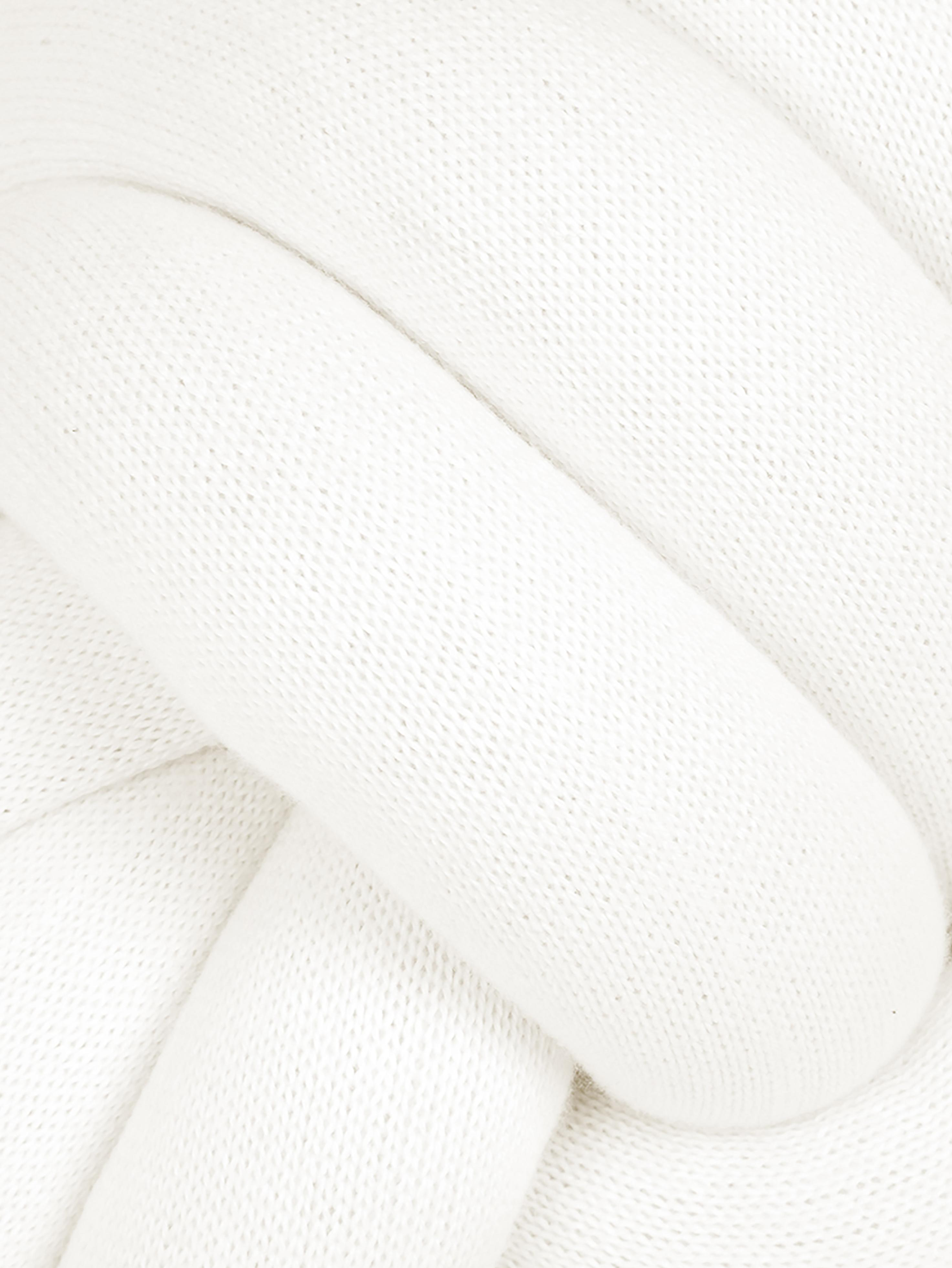 Cuscino bianco Twist, Bianco, Ø 30 cm