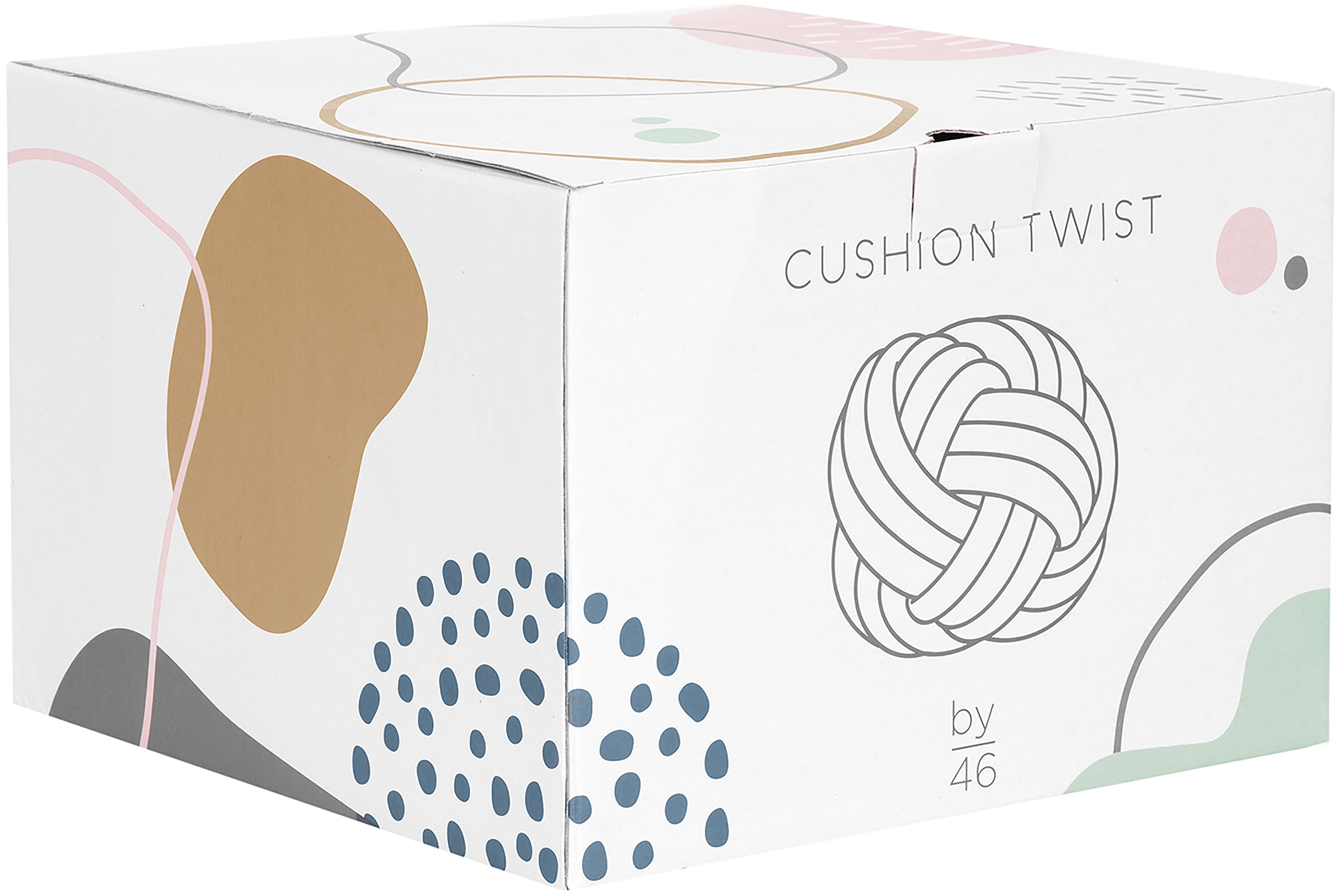 Klein kussen Twist, Ivoorkleurig, Ø 30 cm