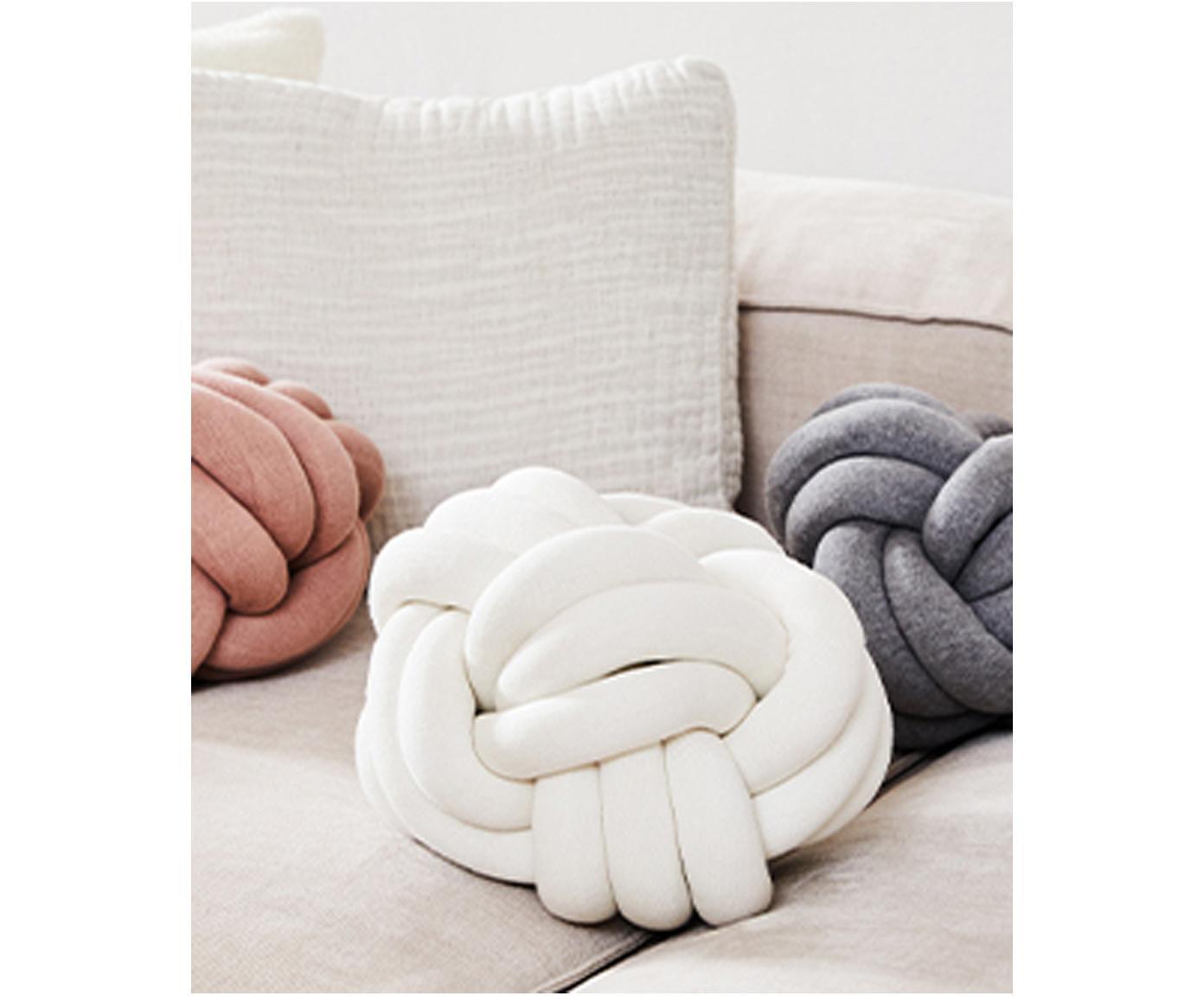 Poduszka Twist, Kość słoniowa, Ø 30 cm