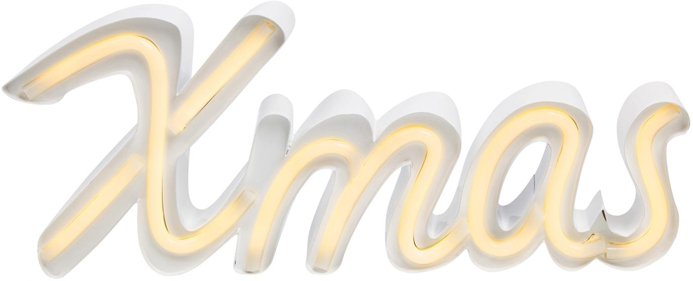 LED-Leuchtobjekt Austin, Metall, lackiert, Weiß, 40 x 16 cm