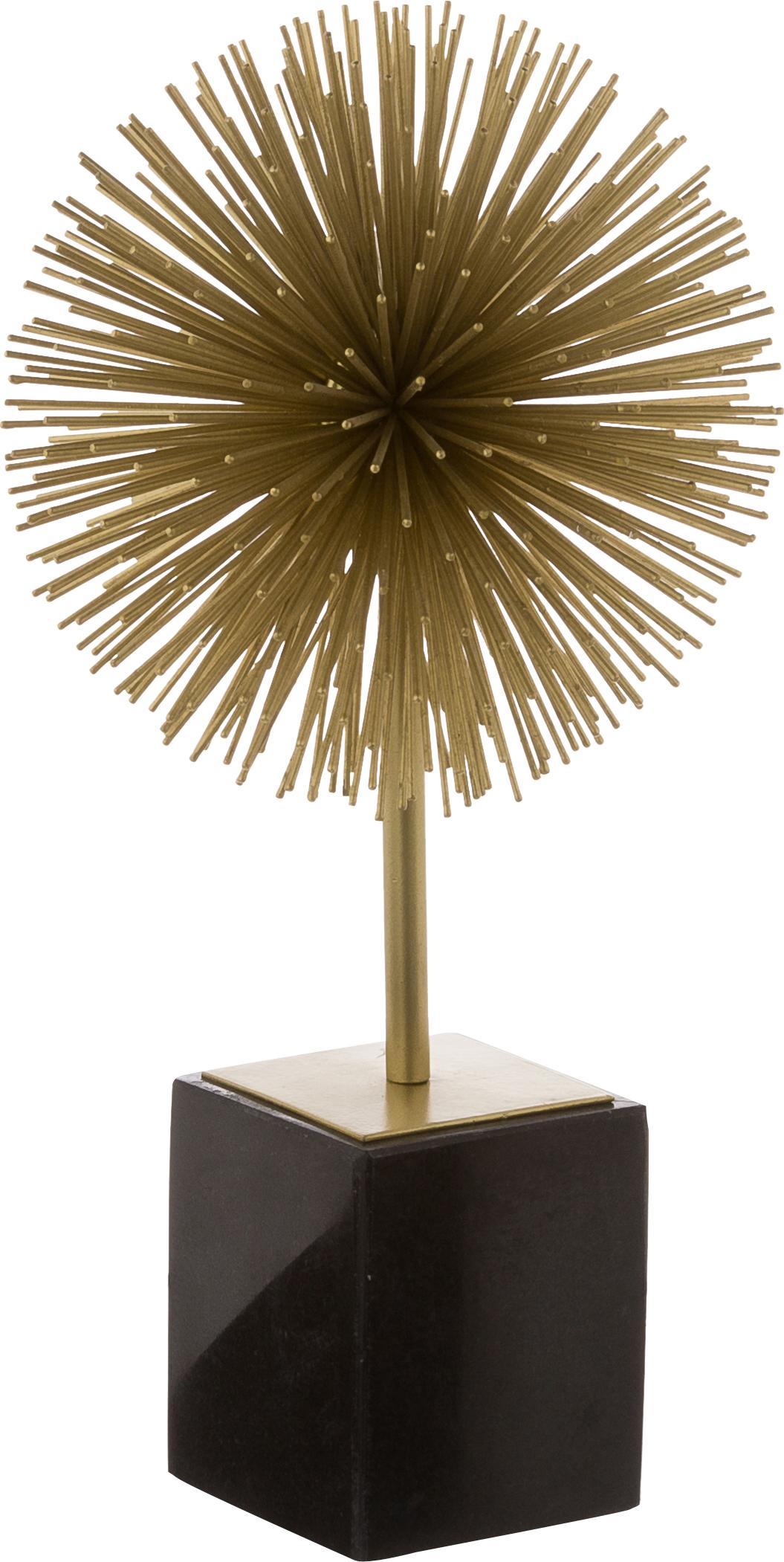 Pieza decorativa Marball, Parte inferior: fieltro, Dorado, negro, Al 30 cm