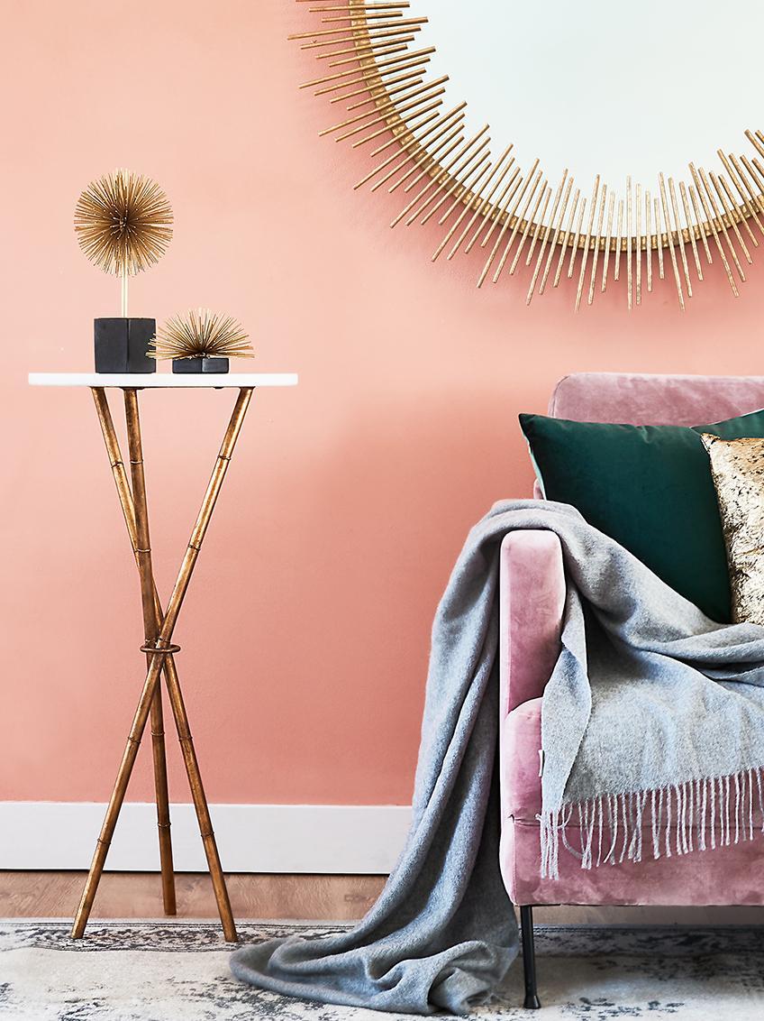 Oggetto da decorazione Marball, Ornamento: metallo, Ornamento: dorato, Base: marmo nero, A 30 cm