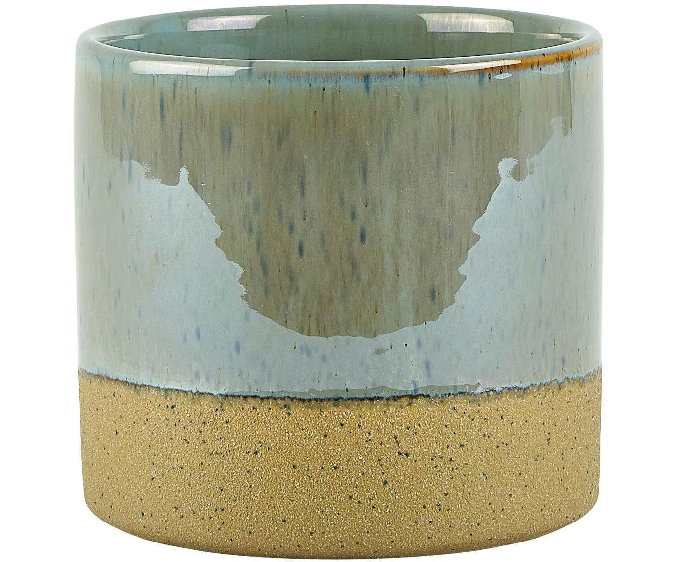 Portavaso Neptune, Ceramica, Sopra: blu grigio Sotto: beige, Ø 14 x A 13 cm