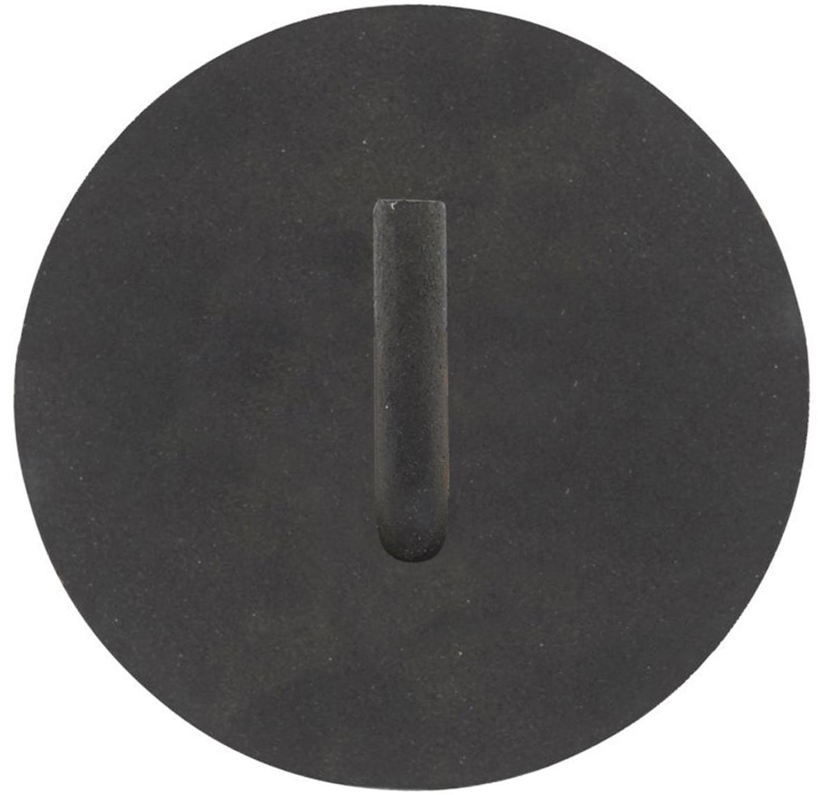Portarotolo carta igienica in metallo Lema, Alluminio rivestito, Nero, Ø 13 x Prof. 12 cm