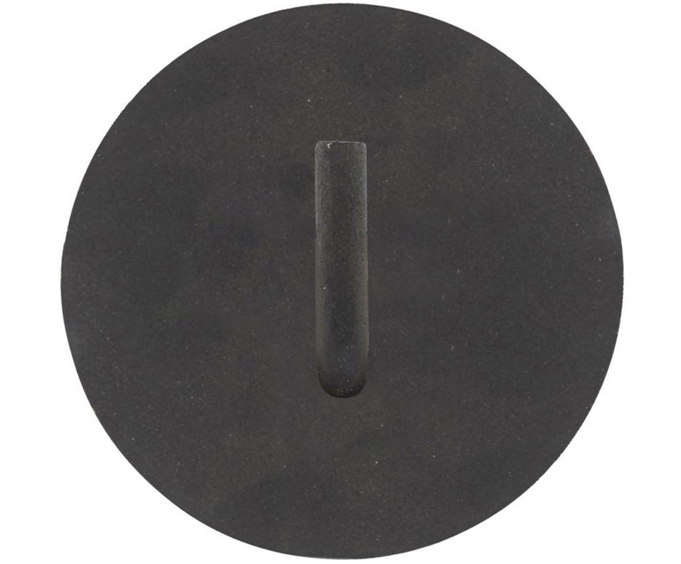 Gancio da parete Lema, Alluminio rivestito, Nero, Ø 13 x Prof. 12 cm