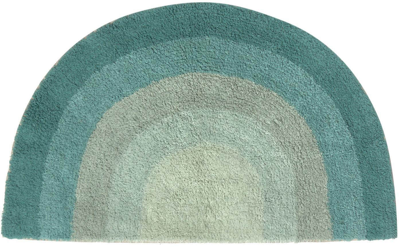 Badmat Arco met regenboog patroon, 100% katoen, Groentinten, 80 x 45 cm