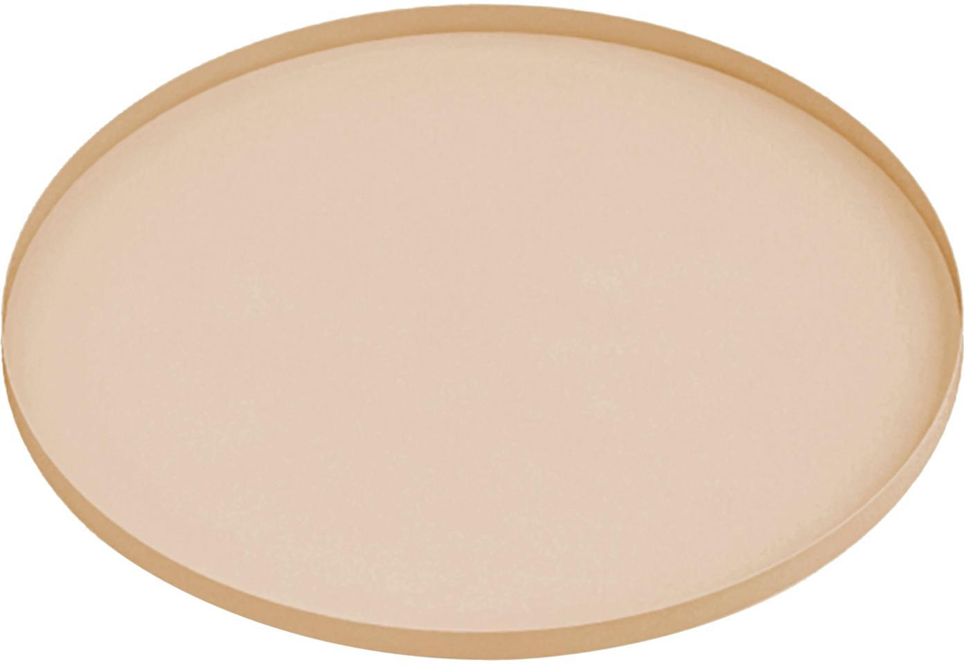 Tablett Arla, Metall, beschichtet, Beige, Ø 41 cm