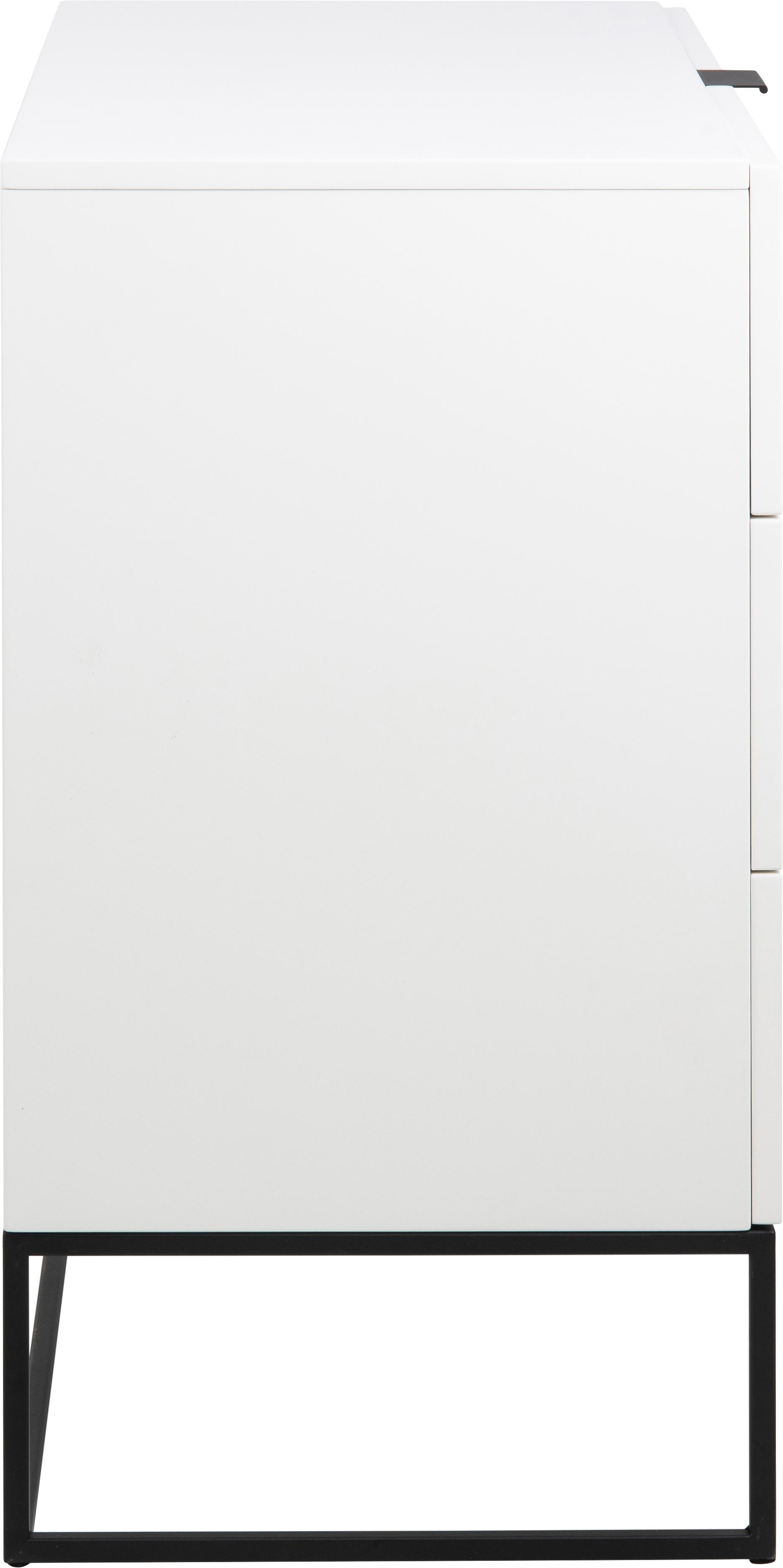 Cassettiera bianca Kobe, Bianco, Larg. 100 x Alt. 85 cm