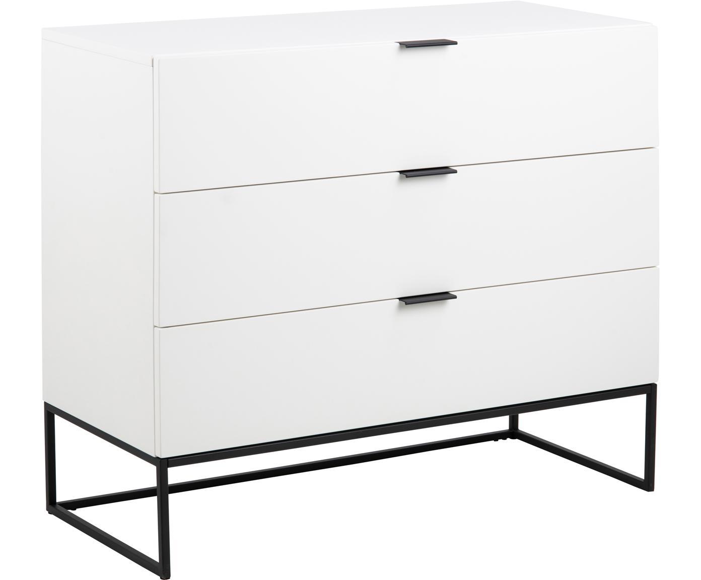 Szafka z szufladami Kobe, Biały, S 100 x W 85 cm