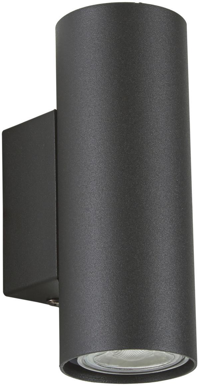 Kinkiet LED Peter, Metal malowany proszkowo, Czarny, S 6 x W 9 cm