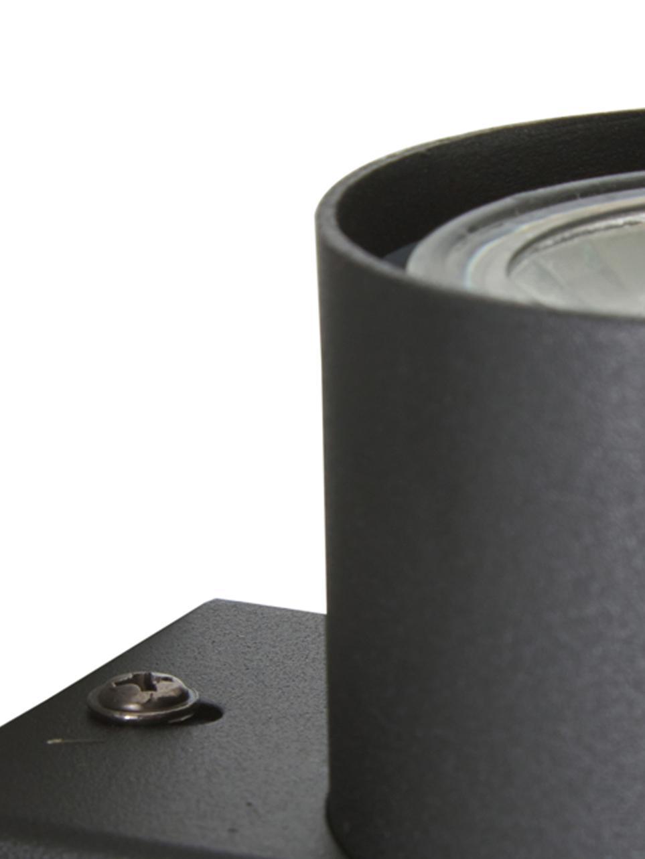 Applique a LED Paul, Metallo verniciato, Nero, Larg. 6 x Alt. 9 cm