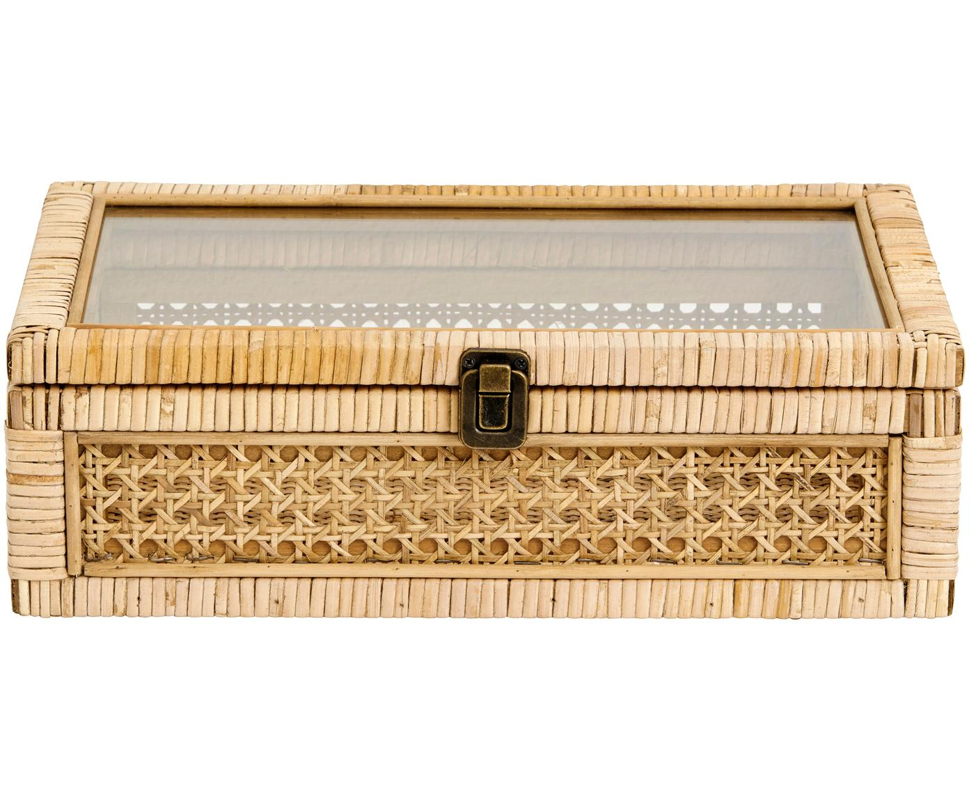 Caja Granell, Caja: bambú, Tapa: vidrio, Bambú, An 37 x Al 11 cm