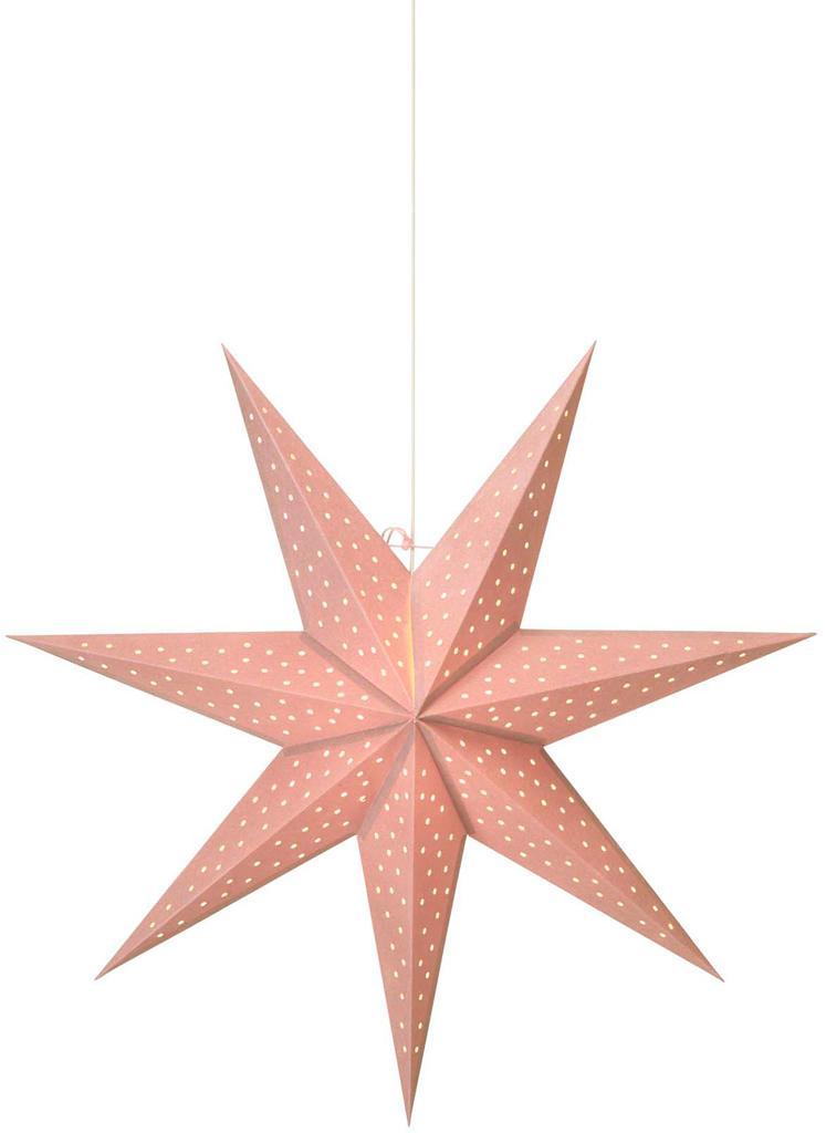 Stella di Natale di carta Clara, Rosa, Ø 75 cm