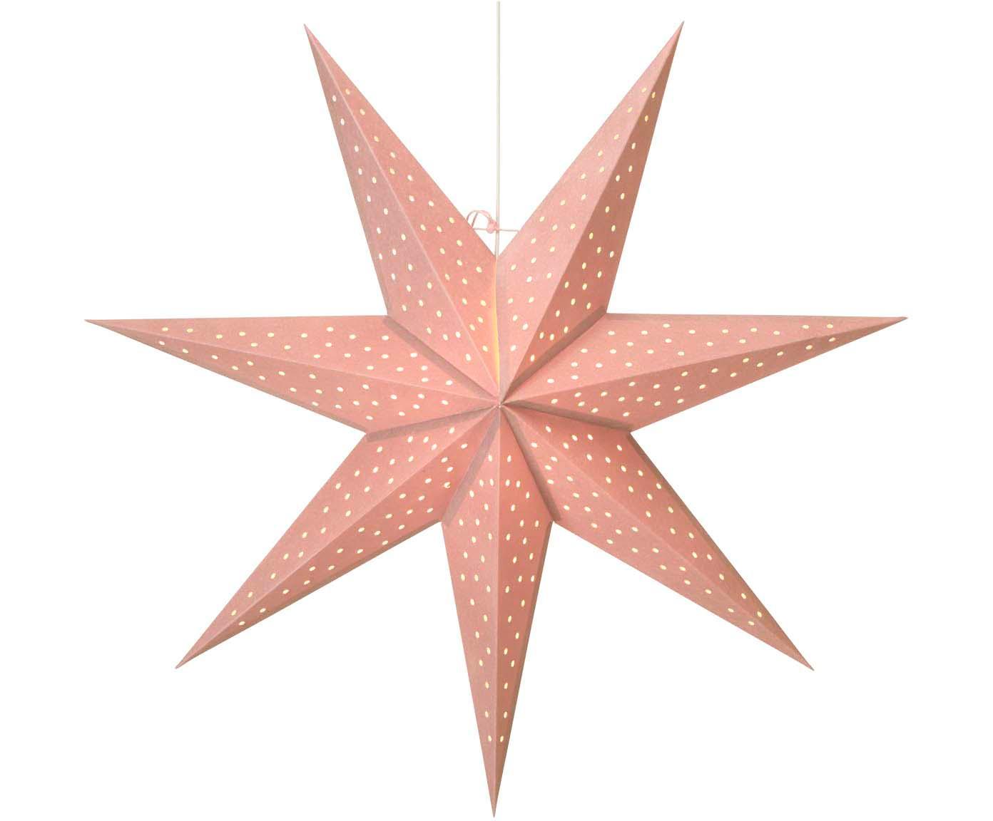 Estrella de Navidad Clara, Cable: plástico, Rosa, Ø 75 cm