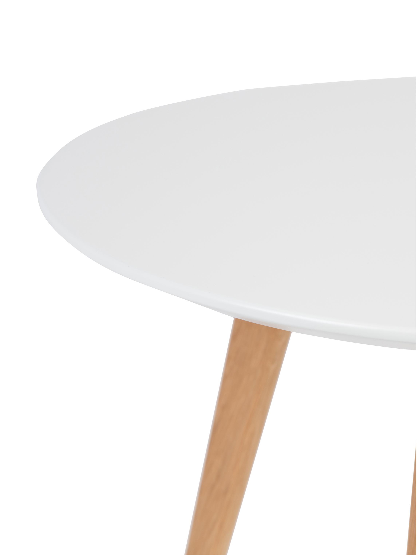 Sada konferenčních stolků Nordic, 2 díly, Deska stolu: bílá Nohy: dub