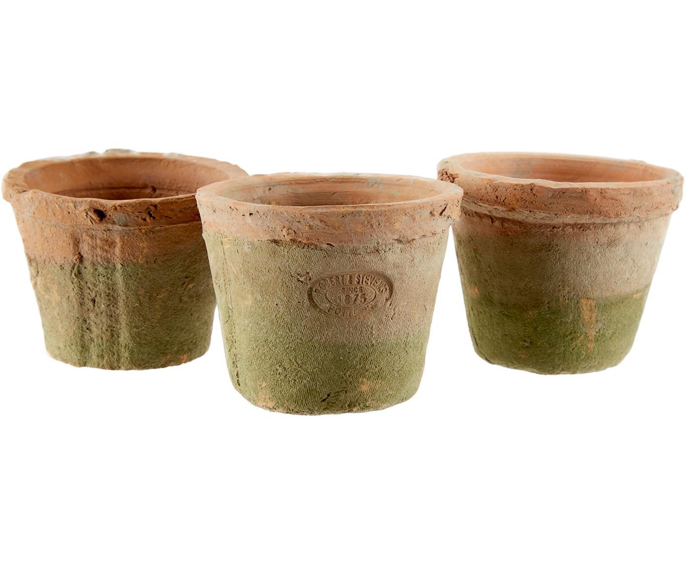 Set portavasi Daria 4 pz, Portavasi: terracotta, Terracotta, marrone, Larg. 37 x Alt. 9 cm