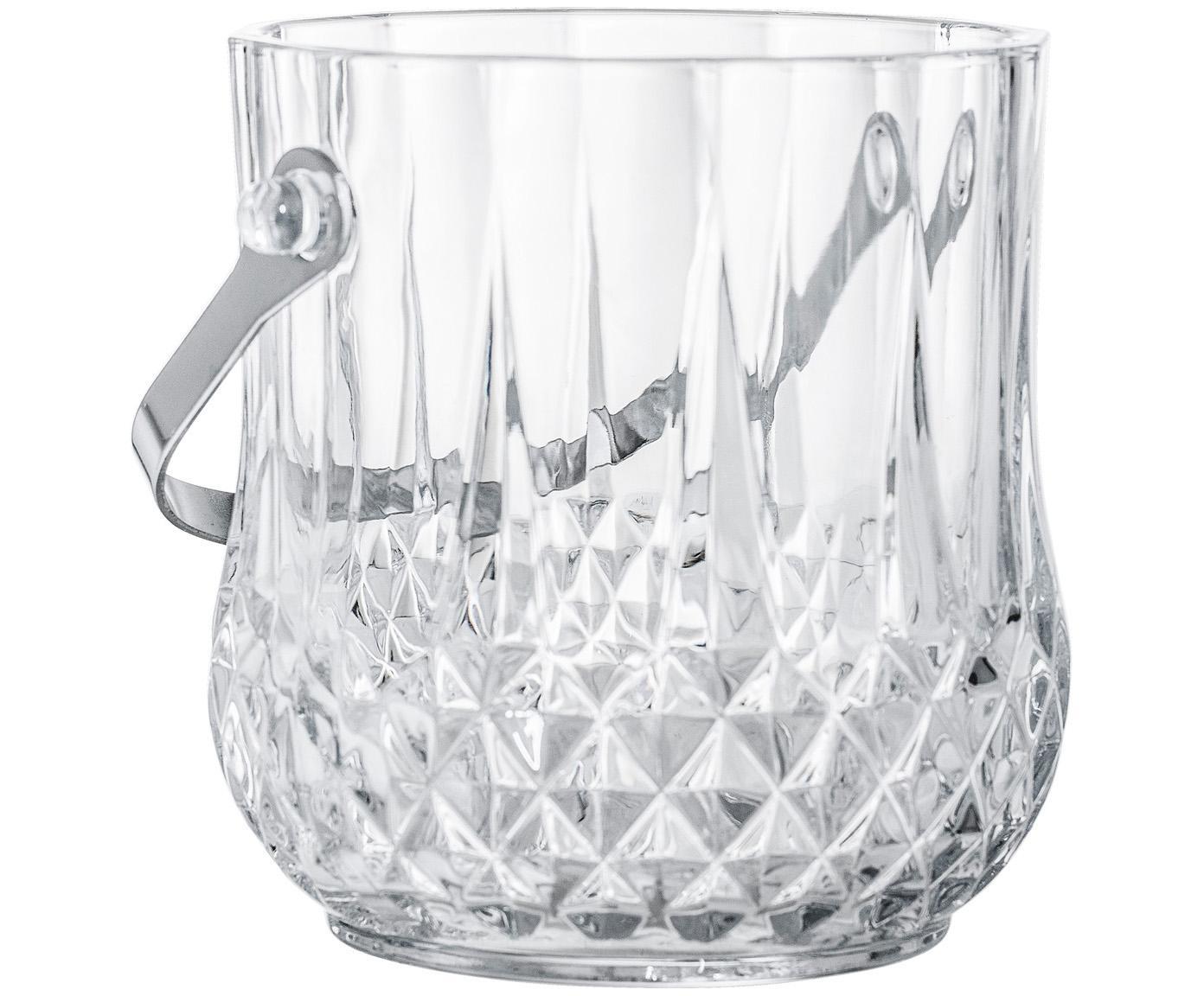 Secchiello per ghiaccio Julie, Manico: acciaio inossidabile, Trasparente, acciaio inossidabile, Ø 12 x Alt. 14 cm