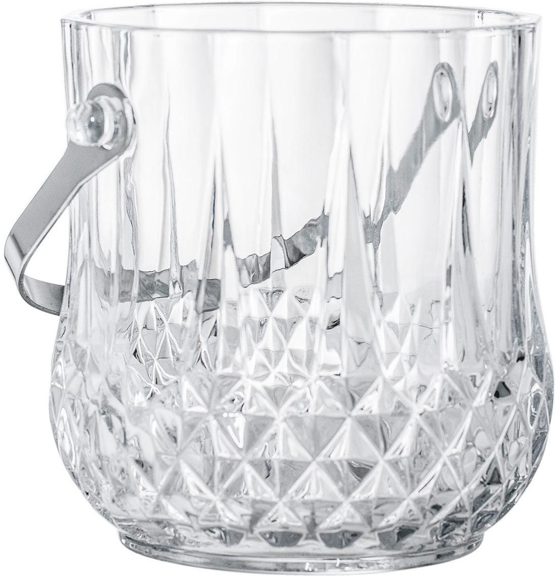 Eiseimer Julie, Henkel: Edelstahl, Transparent, Edelstahl, Ø 12 x H 14 cm
