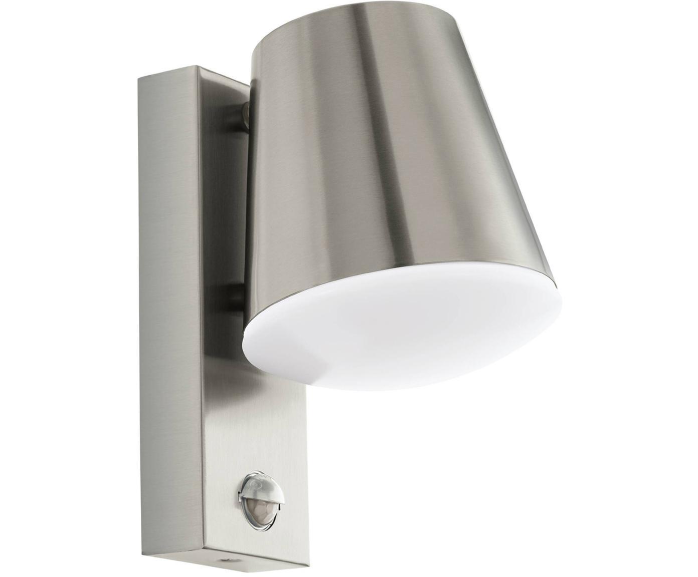 Außenwandleuchte Caldiero mit Bewegungsmelder, Lampenschirm: Edelstahl, Edelstahl, 14 x 24 cm
