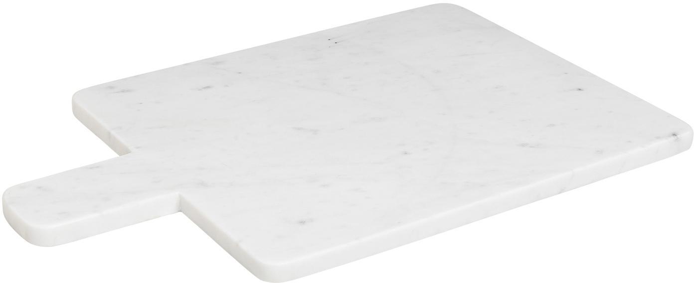 Marmor-Schneidebrett Adam, Marmor, Weiß, B 45 x T 30 cm
