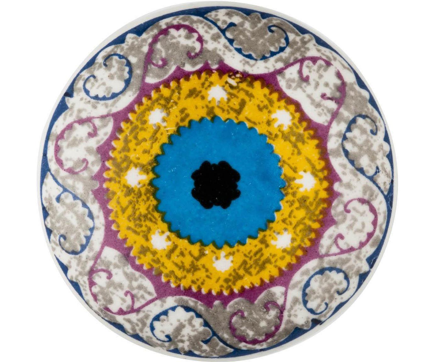 Tirador Eye, Porcelana, metal, Multicolor, Ø 4 cm