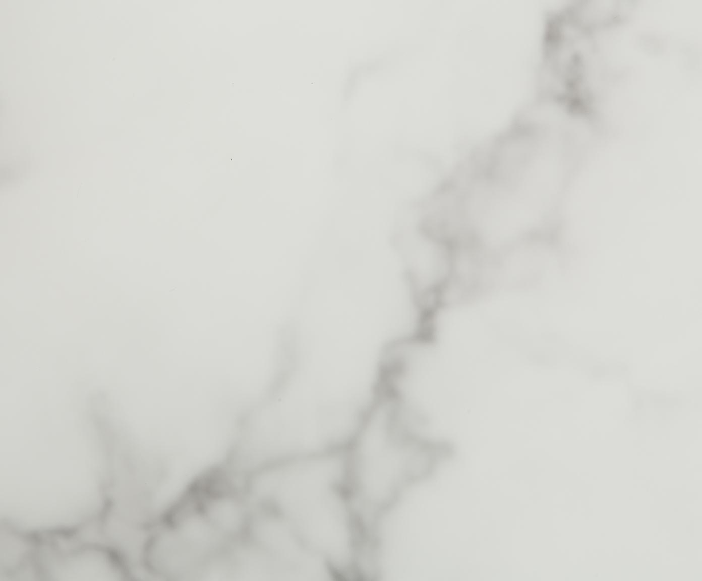 Salontafel Antigua met gemarmerde glazen tafelblad, Tafelblad: glas, mat bedrukt, Frame: vermessingd staal, Wit-grijs gemarmerd, goudkleurig, Ø 78 x H 44 cm