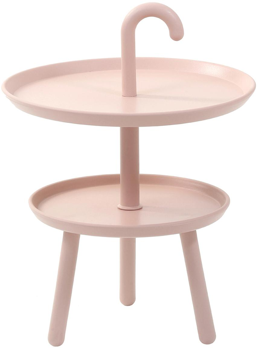 Tavolino rotondo in plastica Rodi, Polipropilene, Rosa, Ø 42 x Alt. 56 cm