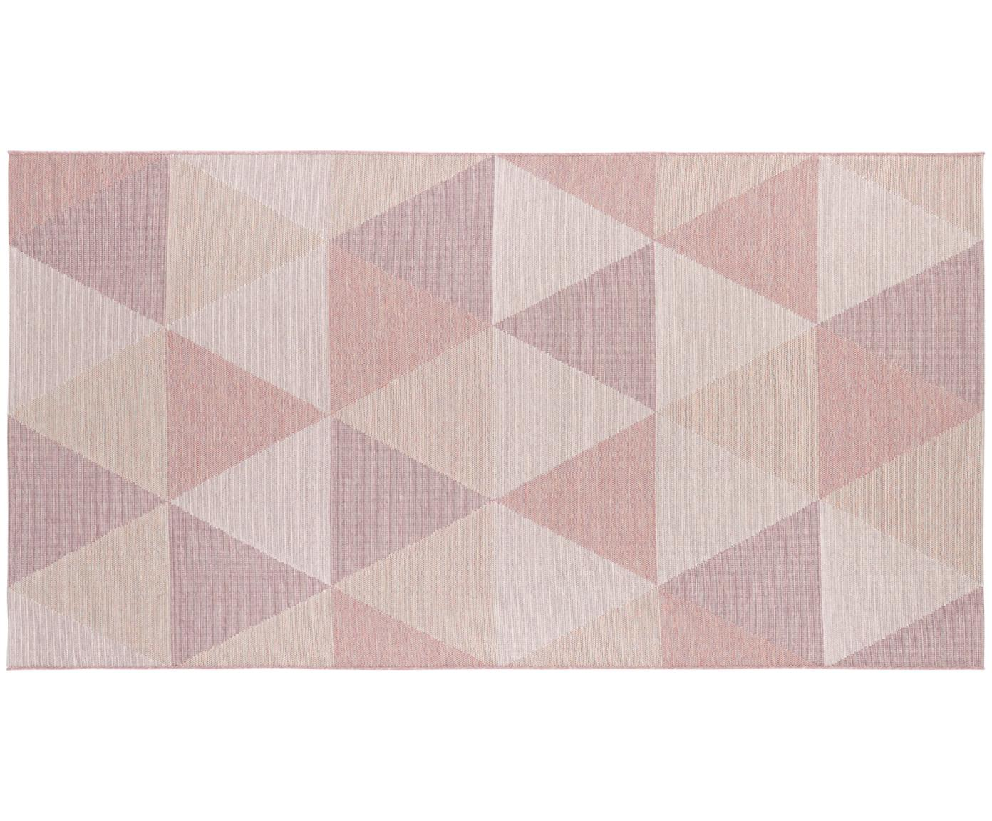 In- und Outdoor Teppich Sevres in Rosatönen, 100% Polypropylen, Rosatöne, Beigetöne, B 80 x L 150 cm (Größe XS)
