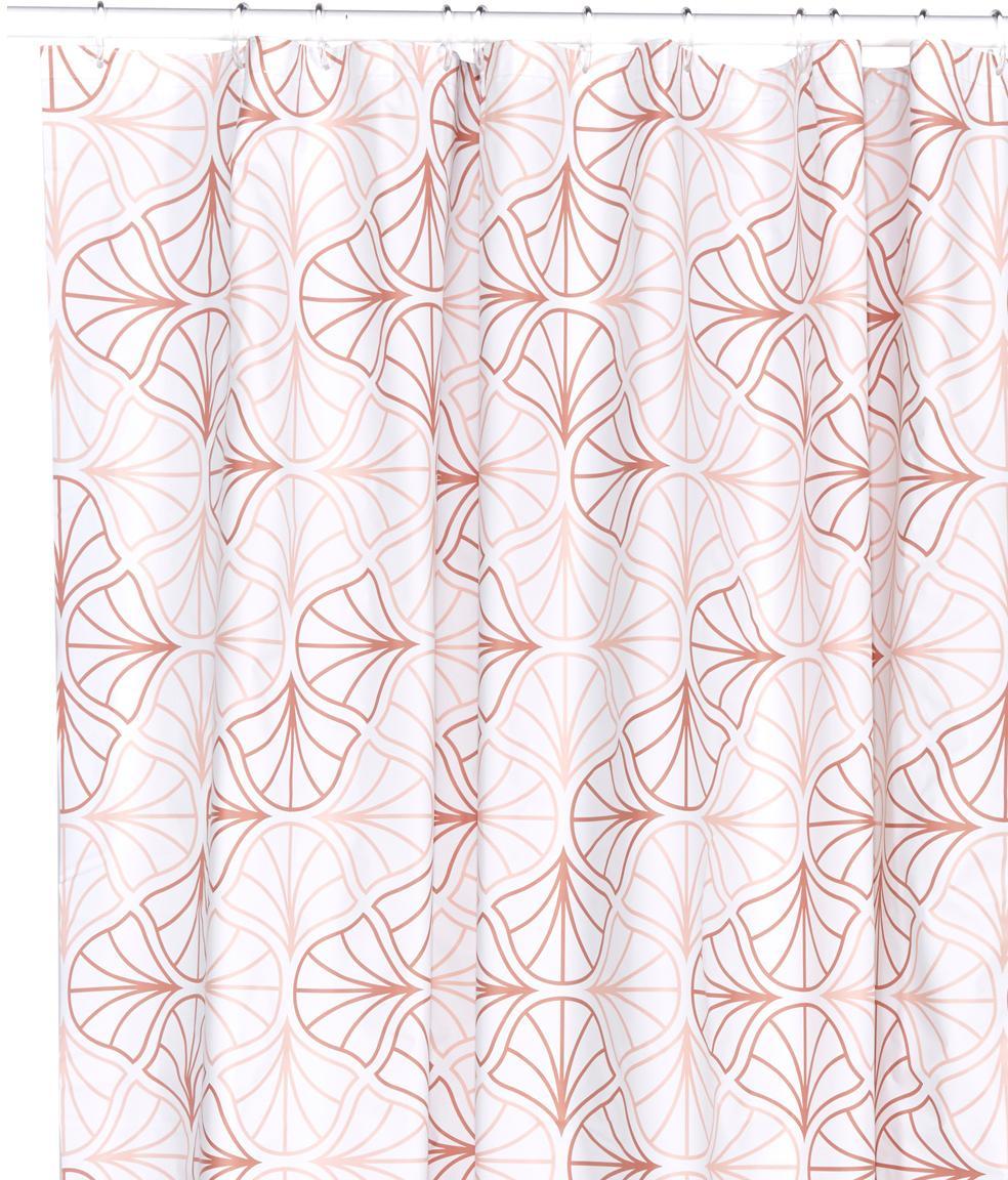 Zasłona prysznicowa Bloom, Eko tworzywo sztuczne (PEVA), bez PVC, Odcienie różowego, biały, S 180 x D 200 cm