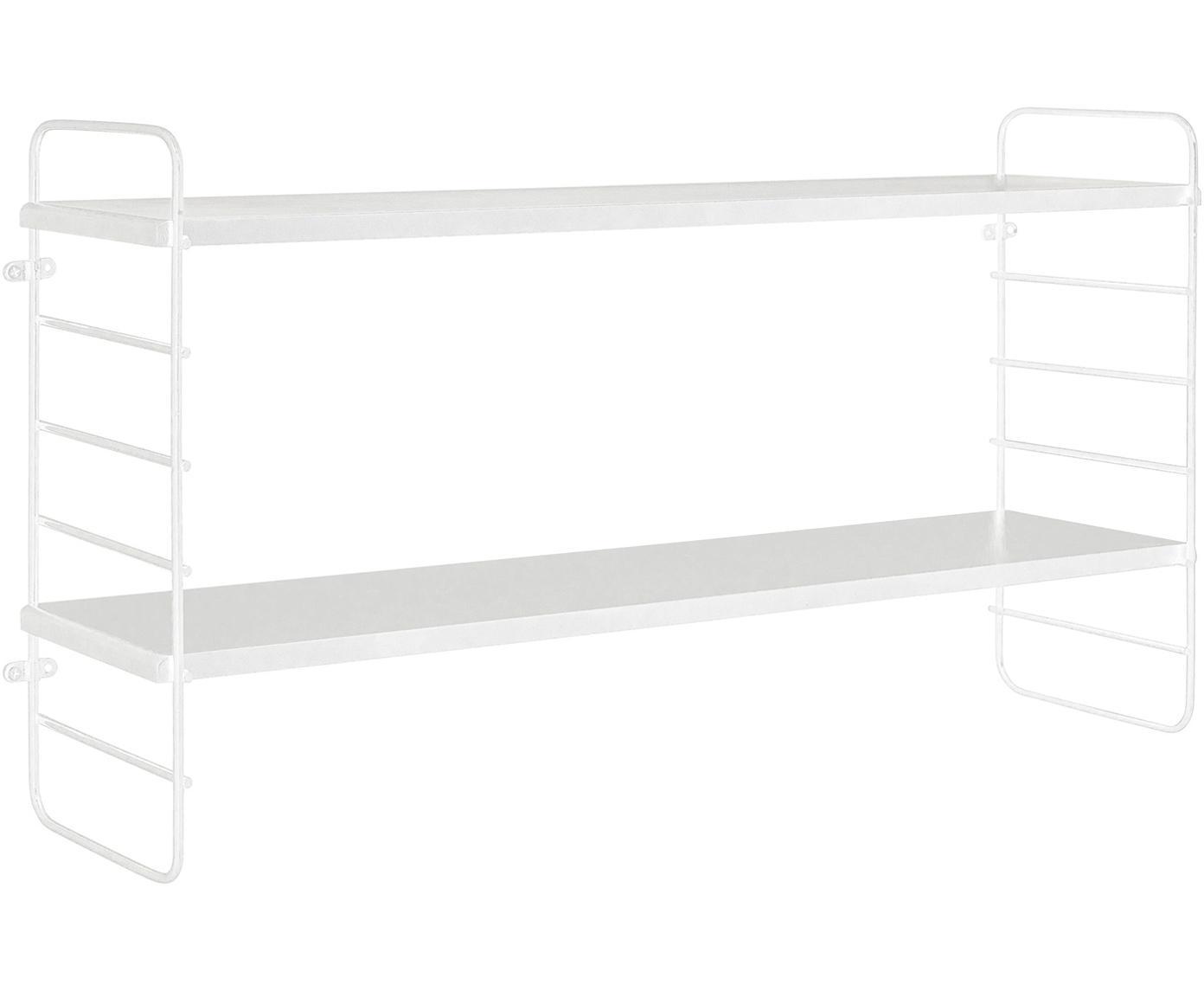 Libreria North, Struttura: metallo verniciato, Ripiani: pannelli di fibre a media, Bianco, L 65 x A 35 cm