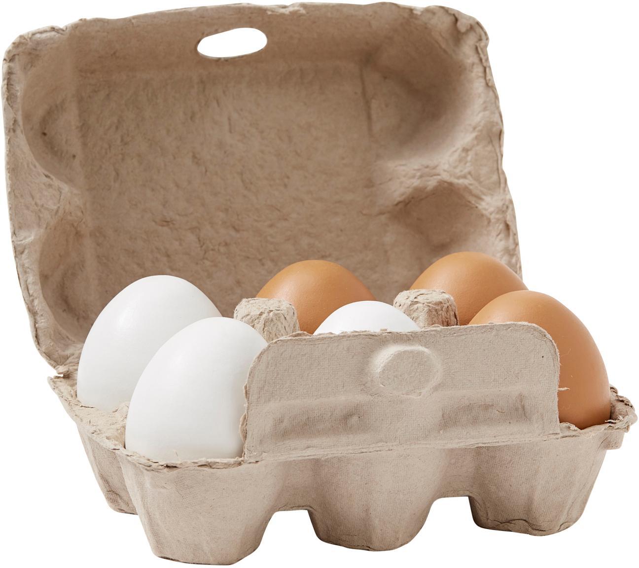Spielzeug-Set Eggy, 7-tlg., Karton, Holz, Grau, Sondergrößen