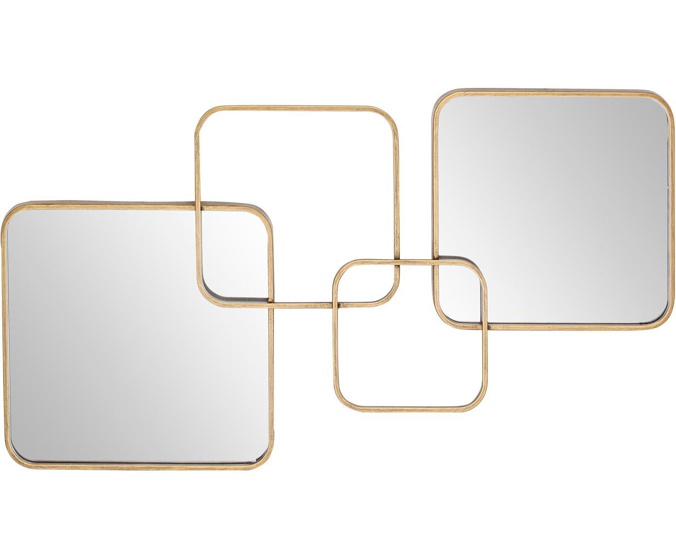 Specchio da parete Oralie, Cornice: metallo rivestito, Superficie dello specchio: lastra di vetro, Ottonato, Larg. 70 x Alt. 40 cm