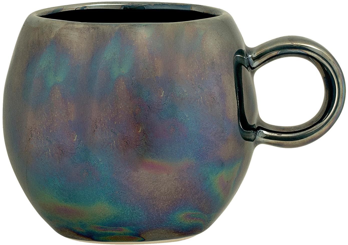 Kubek Paula, Ceramika, Odcienie niebieskiego, zielony, Ø 9 x W 8 cm