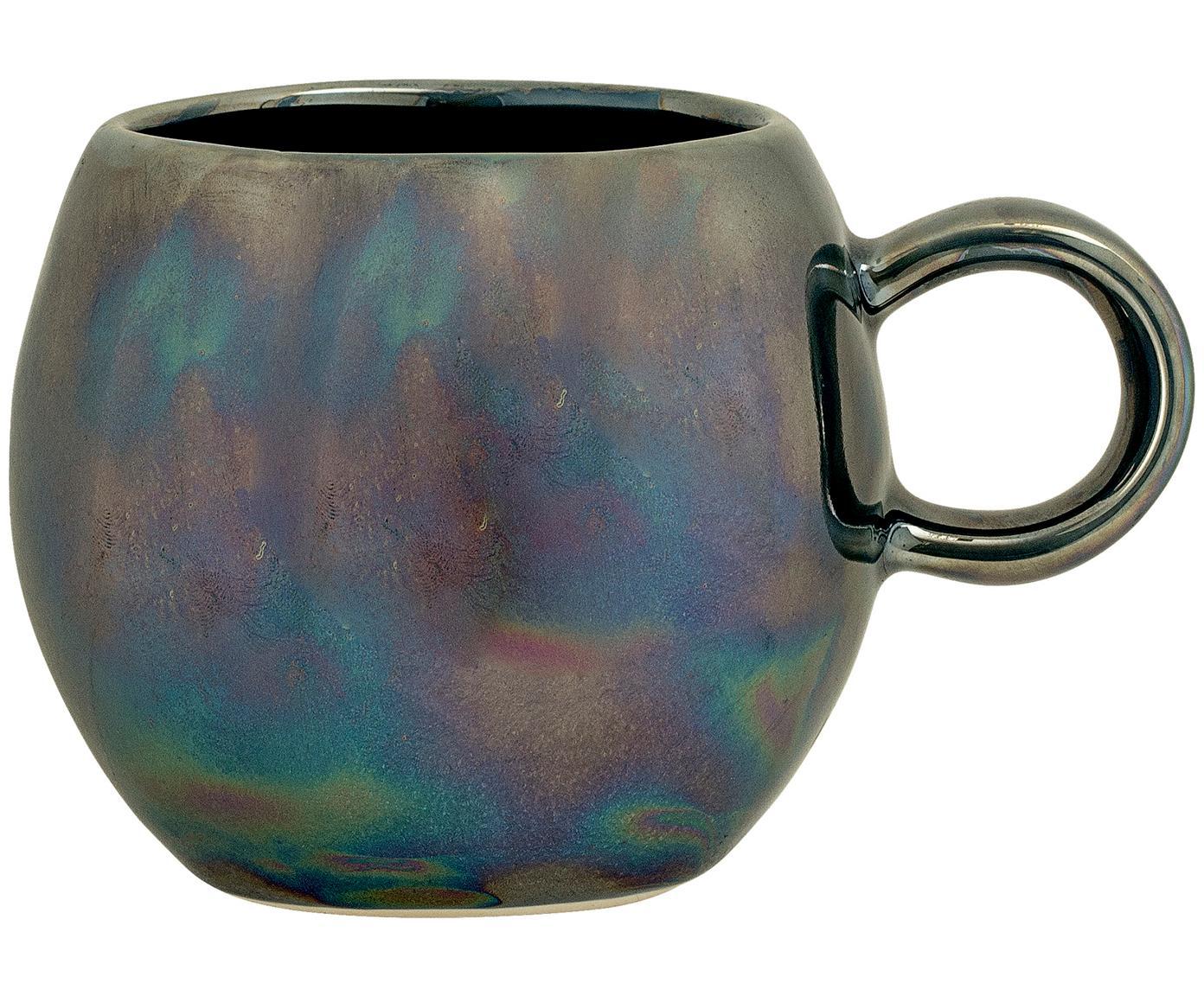 Tasse Paula mit effektvoller Glasur, Keramik, Blautöne, Grün, Ø 9 x H 8 cm