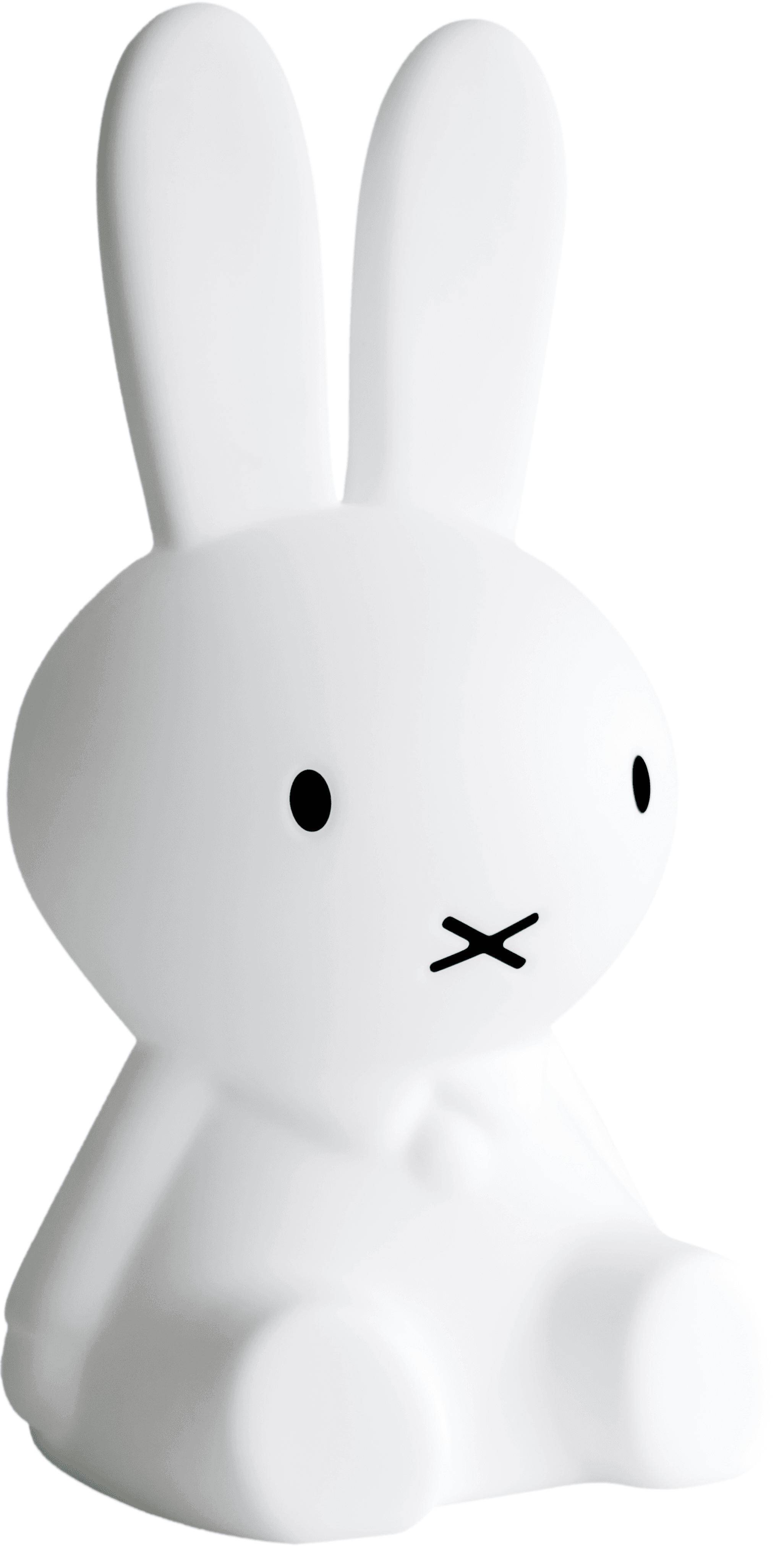 LED Bodenleuchte Miffy, Polyethylen, Weiß, 25 x 50 cm