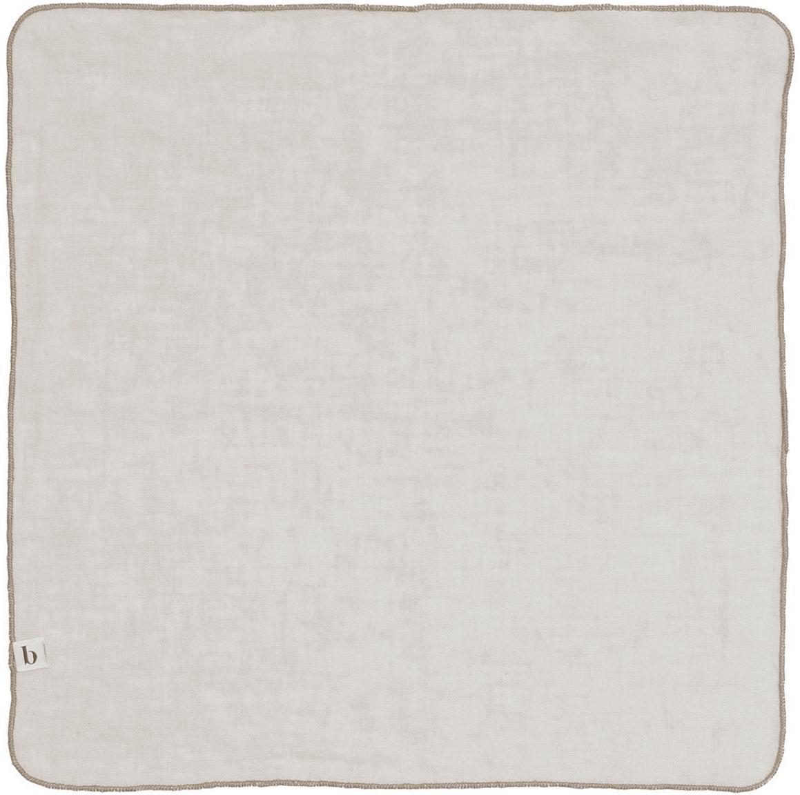 Tovagliolo in lino Gracie 2 pz, Legno naturale, lino, Grigio, P 45 x L 45 cm