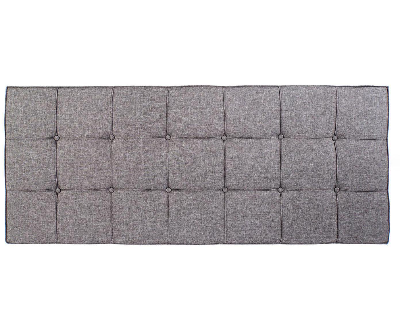 Cabecero tapizado Hady, Estructura: madera, Tapizado: poliéster, Gris, An 160 x Al 120 cm