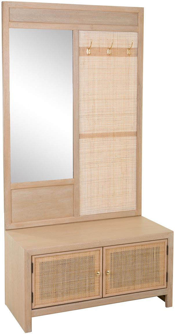 Mueble de recibidor Pablo, Estructura: madera, Beige, An 90 x Al 181 cm