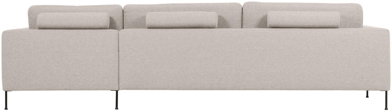 Ecksofa Cucita (4-Sitzer), Bezug: Webstoff (Polyester) Der , Gestell: Massives Kiefernholz, Webstoff Beige, B 302 x T 163 cm