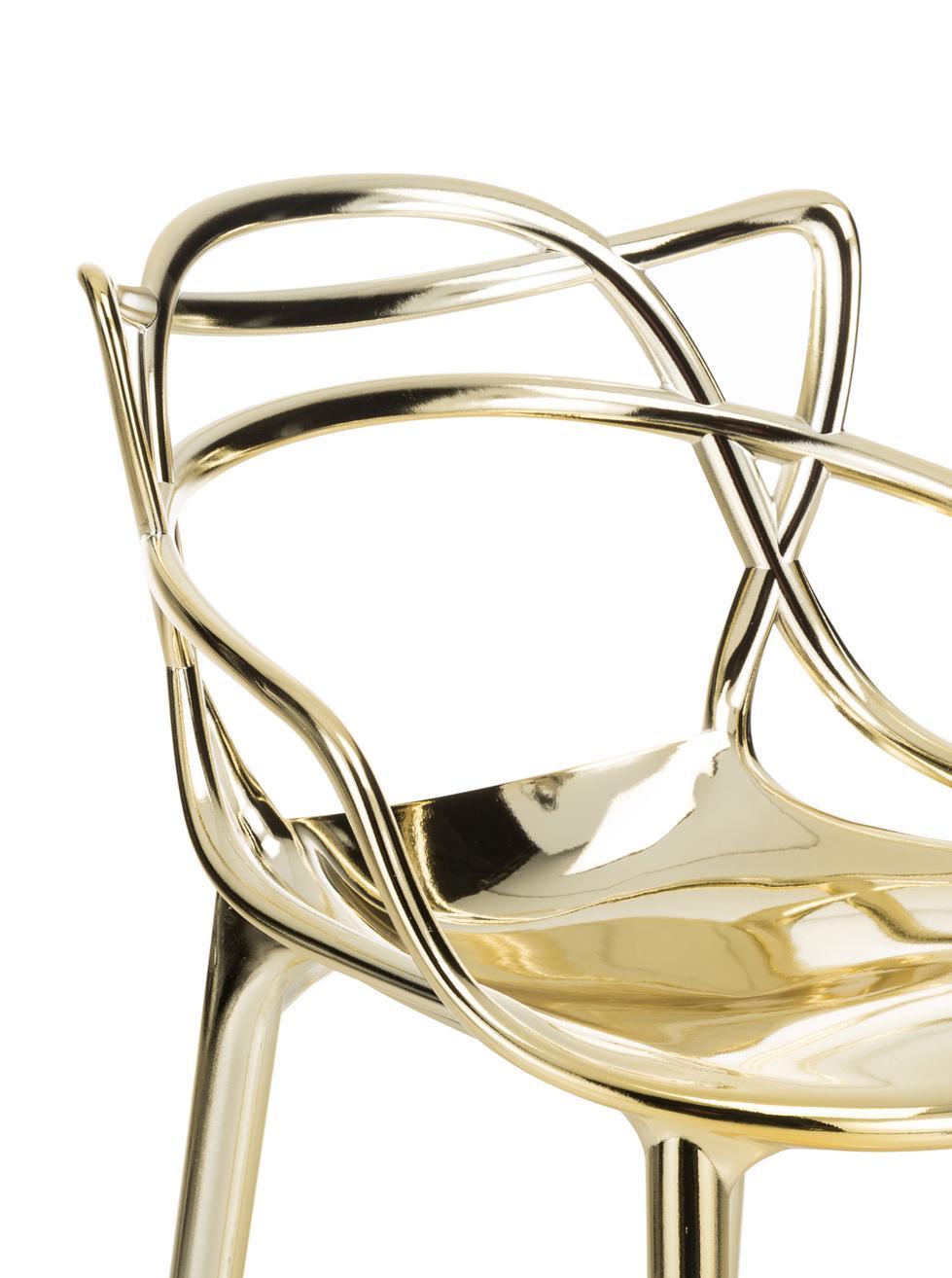 Chaise de comptoir Masters, Couleur dorée