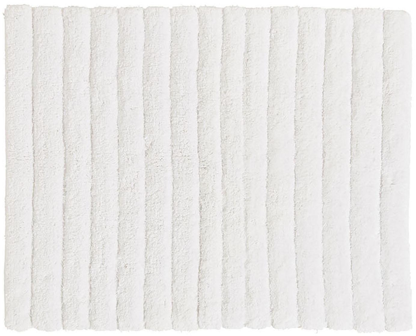 Flauschiger Badvorleger Board, 100% Baumwolle, schwere Qualität, 1900 g/m², Weiß, 50 x 60 cm