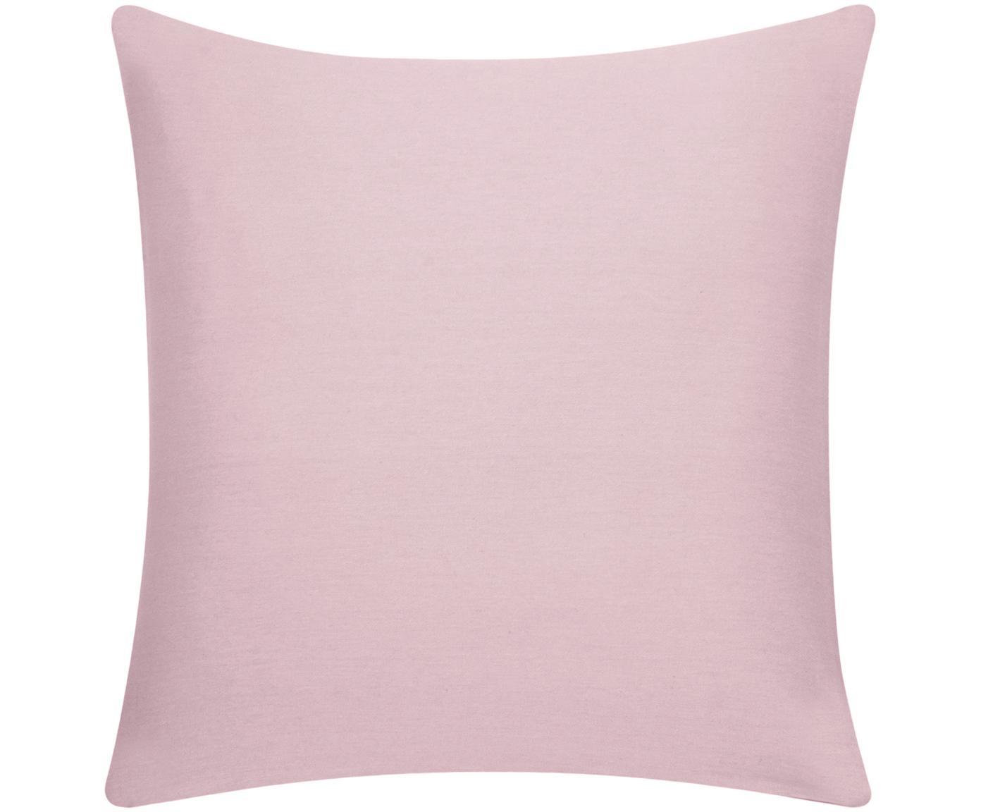 Kussenhoes Mads, 100% katoen, Roze, 40 x 40 cm