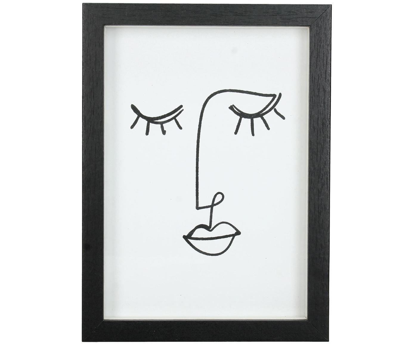 Cornice Claybank, Legno rivestito, Nero, 13 x 18 cm