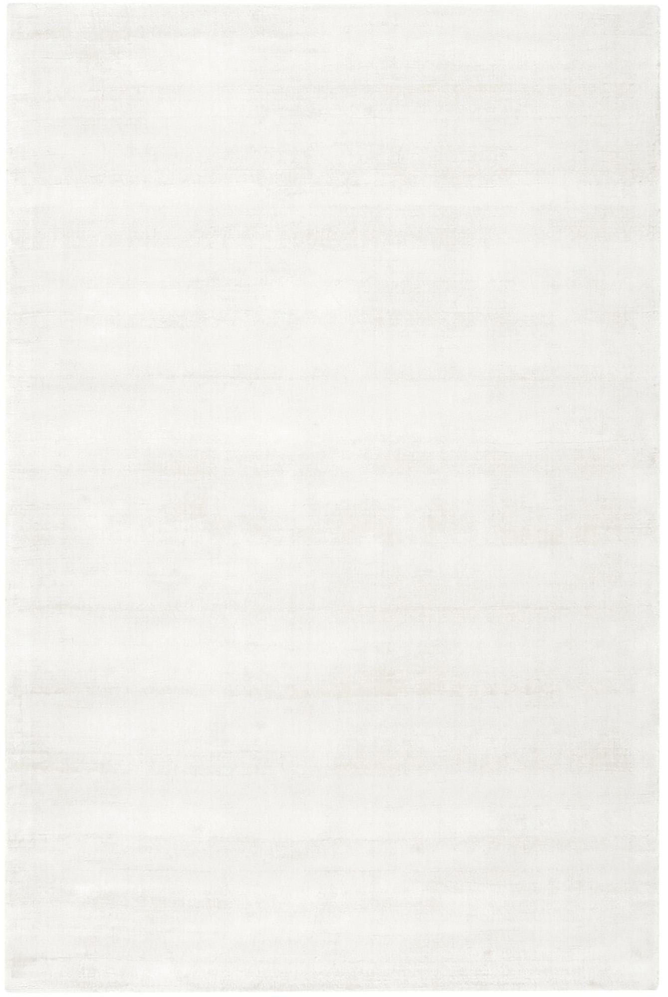 Handgeweven viscose vloerkleed Jane in ivoorkleur, Bovenzijde: 100% viscose, Onderzijde: 100% katoen, Ivoorkleurig, 160 x 230 cm