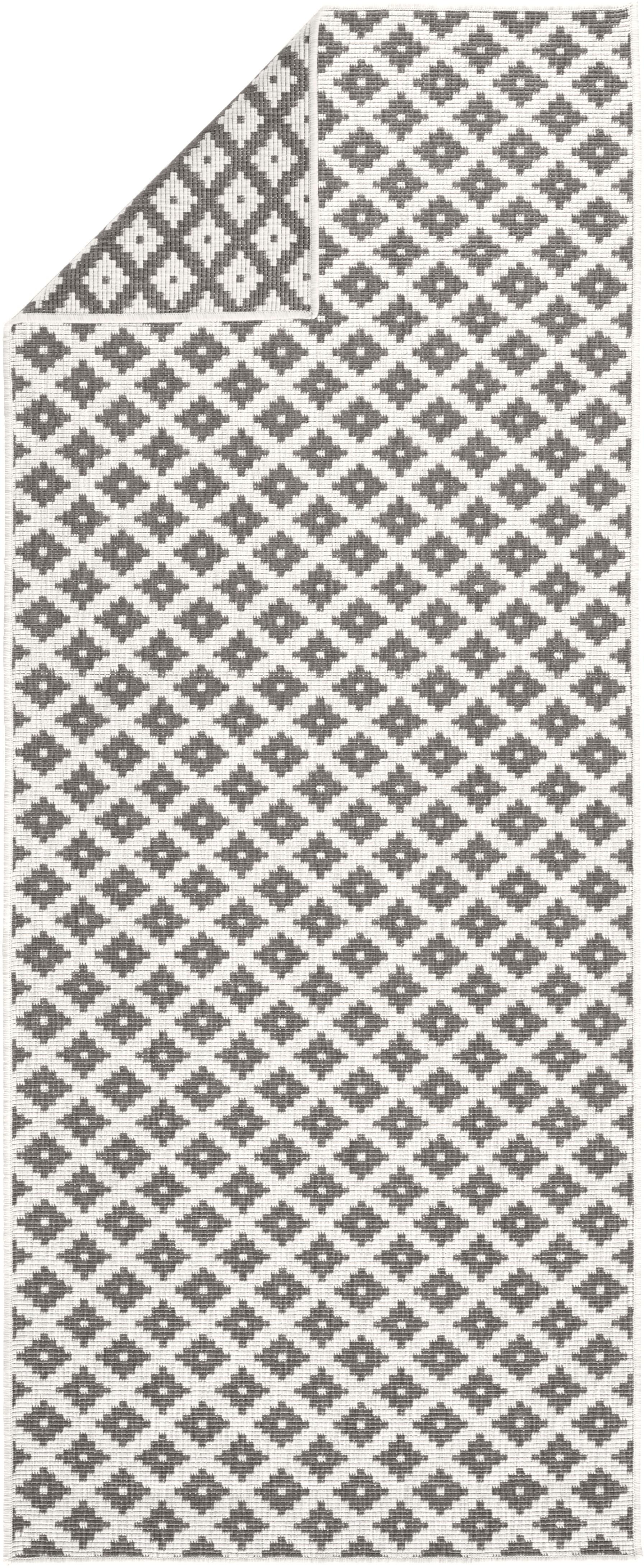 Dwustronny chodnik zewnętrzny i wewnętrzny Nizza, Szary, odcienie kremowego, S 80 x D 250 cm
