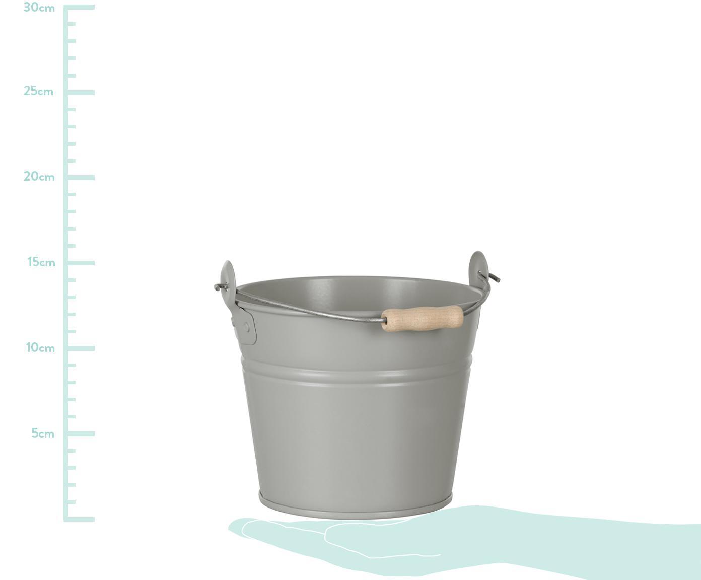 Osłonka na doniczkę Zino, Cynk galwanizowany, Szary, Ø 16 x W 14 cm