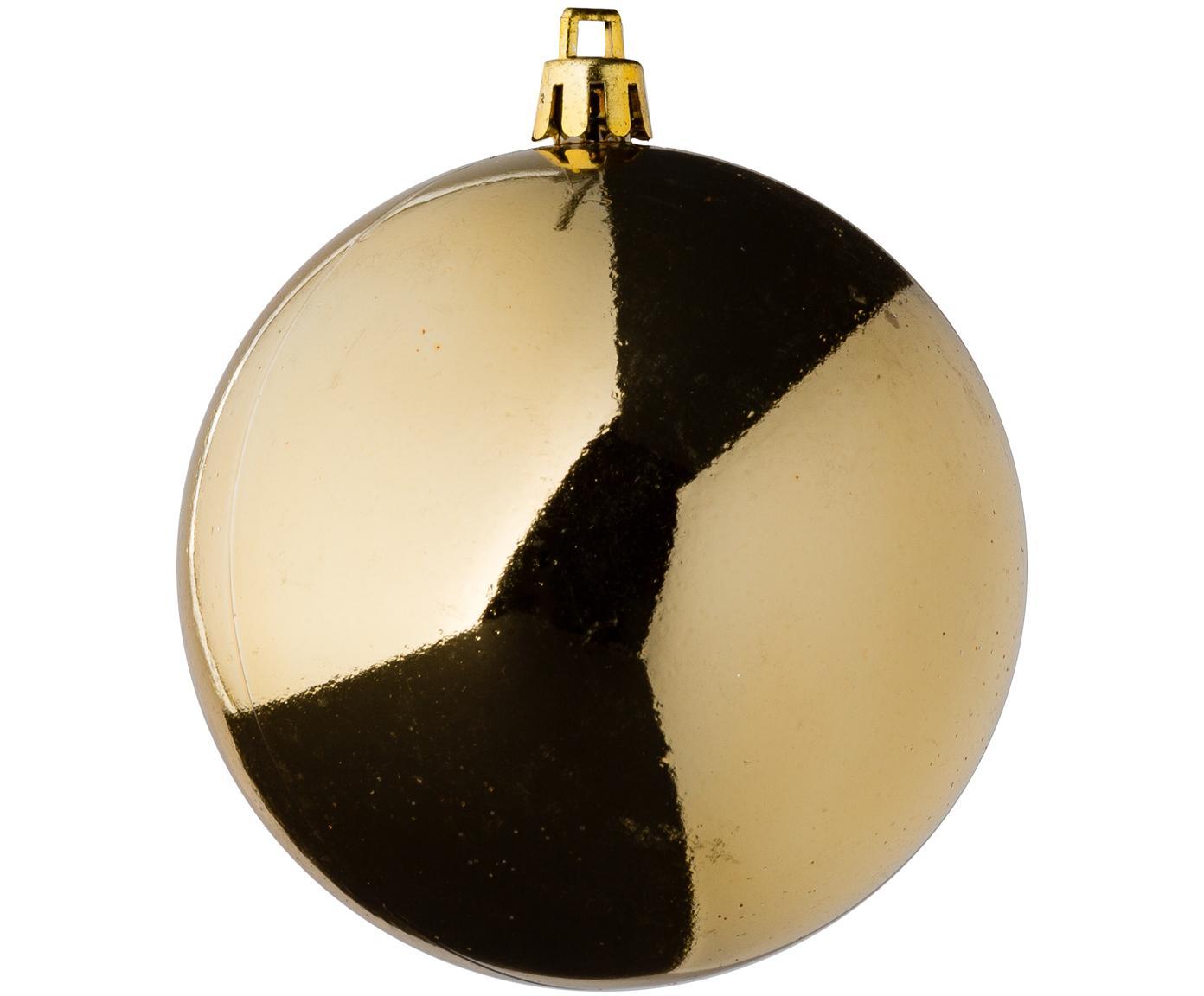 Weihnachtskugel-Set Silvia, 46-tlg., Kunststoff, Goldfarben, Sondergrößen