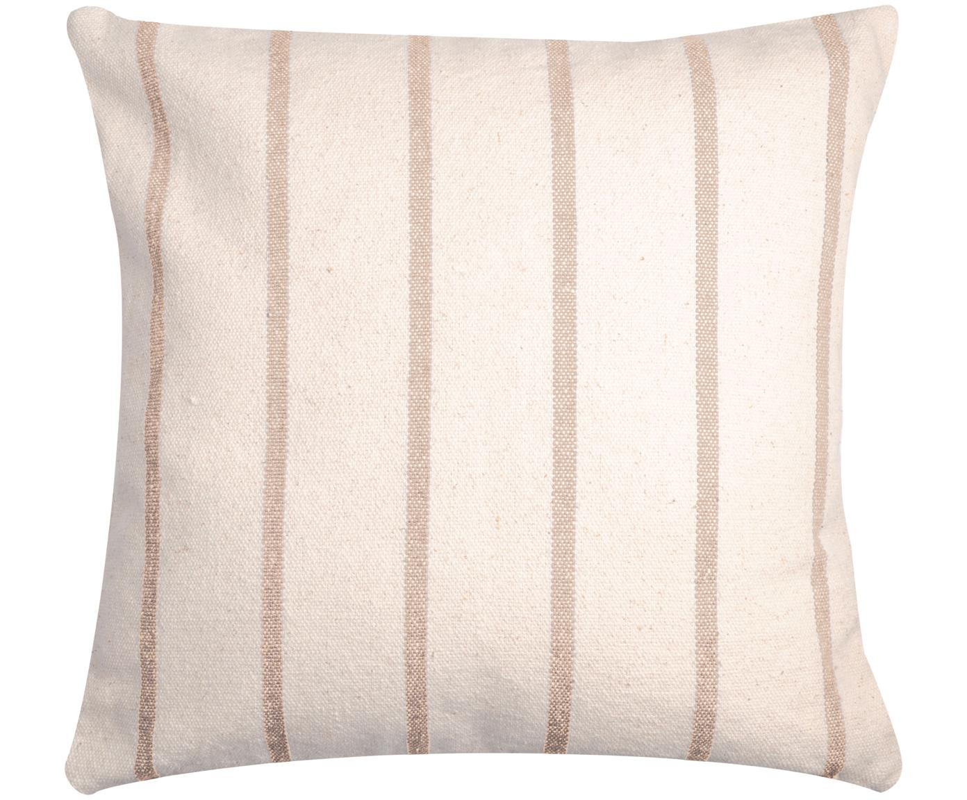 Cojín Pampelonne, con relleno, Funda: algodón, Beige, blanco crudo, An 50 x L 50 cm