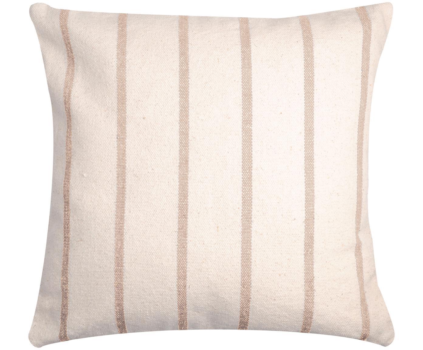 Poduszka Pampelonne, Tapicerka: bawełna, Beżowy, złamana biel, S 50 x D 50 cm